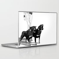 rottweiler Laptop & iPad Skins featuring Fashion Rottweiler  by Gregory Casares