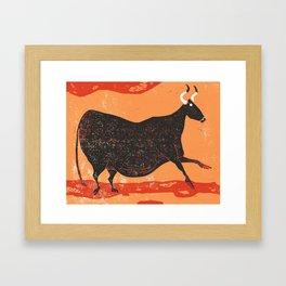 Bull Framed Art Print