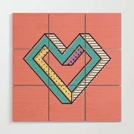 le coeur impossible (nº 2) Wood Wall Art