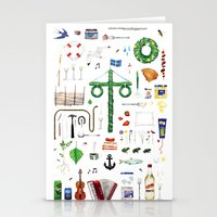 swedish Stationery Cards featuring swedish midsummer by N Li