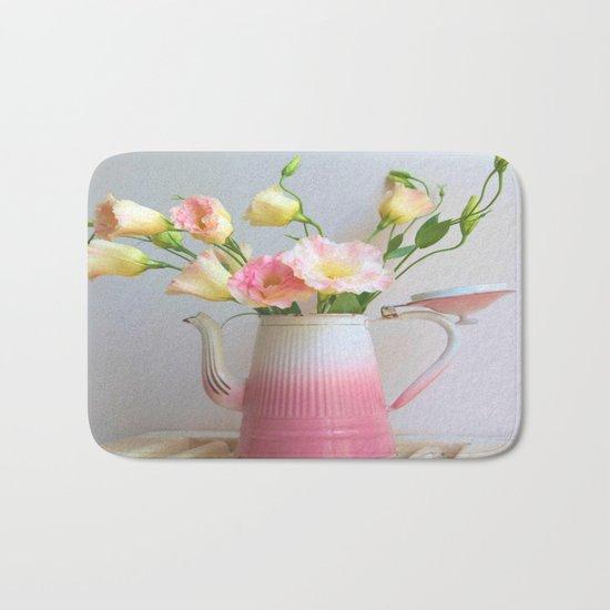 Coffee, Tea or Flowers Bath Mat