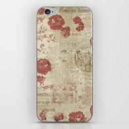 Rose and Ephemera Collage Print iPhone Skin