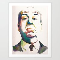 hitchcock Art Prints featuring Hitchcock by totemxtotem