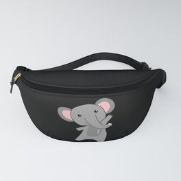 Elephantastic Elephant Cute Animals Pink For Kids Fanny Pack