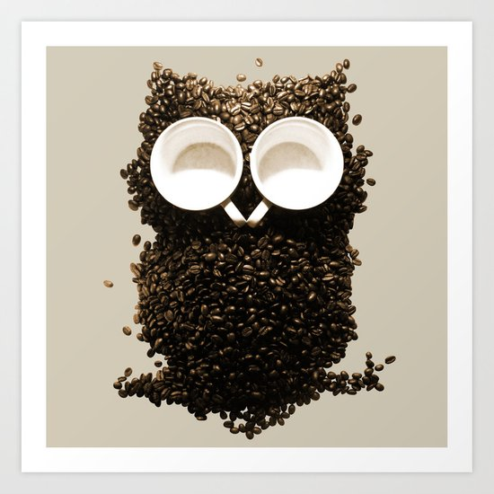 Hoot! Night Owl! Art Print