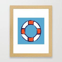lifeguard buoy blue #nauticaldecor Framed Art Print