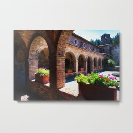 Napa Valley Tuscan Style Castle Metal Print