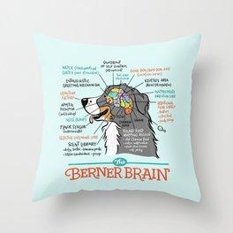Berner Brain - Blue Throw Pillow