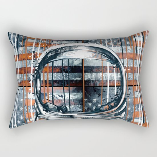 pop art usa collage 2 Rectangular Pillow