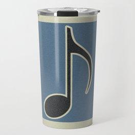 Eighth Note Blue Travel Mug