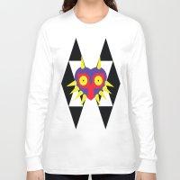 majora Long Sleeve T-shirts featuring Minimalist Majora by Bradley Bailey