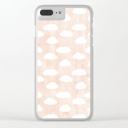 Coral clouds Clear iPhone Case