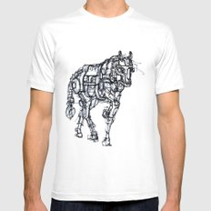mechanical horse White MEDIUM Mens Fitted Tee