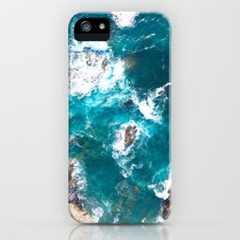 Ocean, deep blue, drone photography, aerial iPhone Case