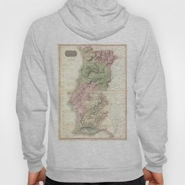 Vintage Map of Portugal (1818) Hoody