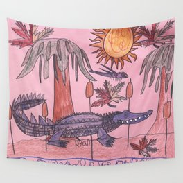 Swamp Hunt Wall Tapestry