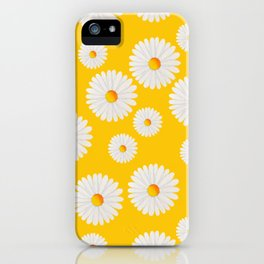 Yellow Daisy Repeat iPhone Case