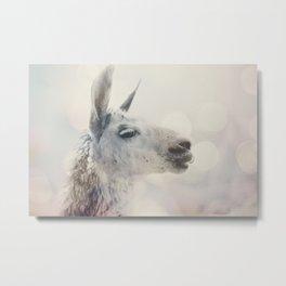Alpaca in Machu Picchu Metal Print