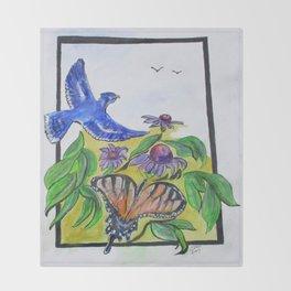 Blue Jay Fantasy Throw Blanket