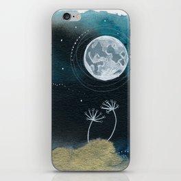 Moon Series #11 Watercolor + Ink Painting iPhone Skin