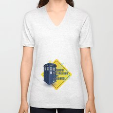 Doctor Who Tardis - Baby Timelord on Board Unisex V-Neck