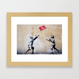 Banksy, Ball Games Framed Art Print