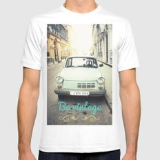 Be Vintage! Mens Fitted Tee MEDIUM White