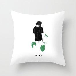 Amongst Green Throw Pillow