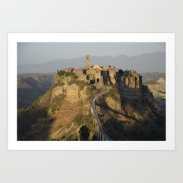 City of Bagnoregio Italy Art Print