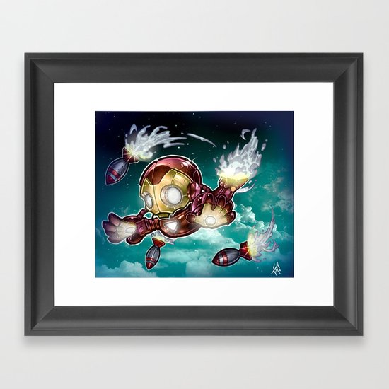 lil' Iron Dude Framed Art Print
