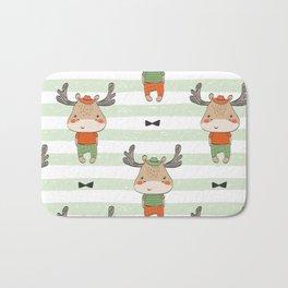 cute reindeer Bath Mat