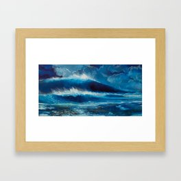 Moonlight Breaks Framed Art Print