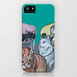 Four Cats iPhone Case