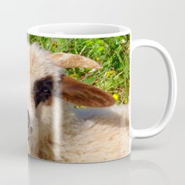Sheep Portrait Close Up Coffee Mug