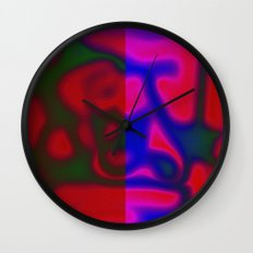 Red Color Leak Wall Clock