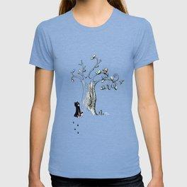 Little Cat and birdy T-shirt