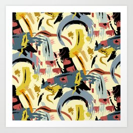Hand painted abstract painting pattern Art Print