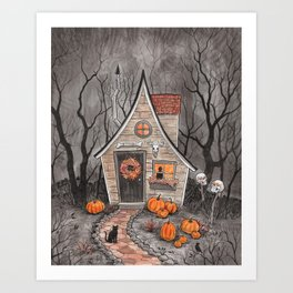 Witch Cottage Art Print