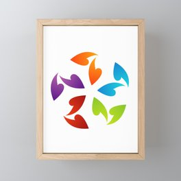 Abstract flora- colorful flower Framed Mini Art Print