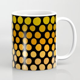 Honey Gold and Amber Ombre Dots Coffee Mug