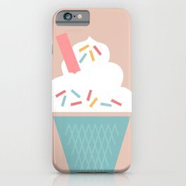 Ice Cream (Peach) iPhone Case