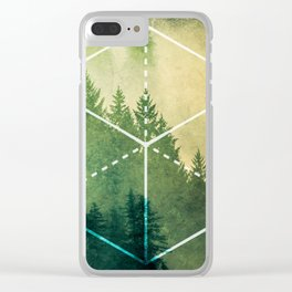 The Elements Geometric Nature Element of Earth Clear iPhone Case
