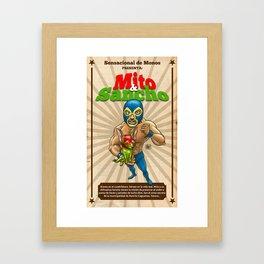 Mito & Sancho, sensacionales de la lucha libre Framed Art Print