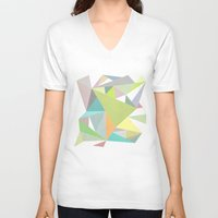 nordic V-neck T-shirts featuring Nordic Combination 11 by Mareike Böhmer