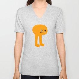 Orange Leggy Unisex V-Neck