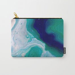Abstract Mable Colorful Blue Turquoise Fluid Acrylic Painting Design Carry-All Pouch