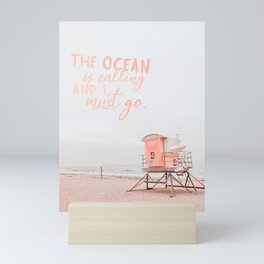 Ocean Is Calling Mini Art Print