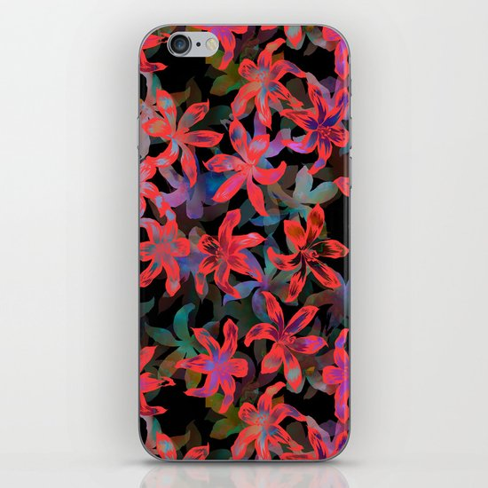 Tropical Serenade - Black iPhone & iPod Skin