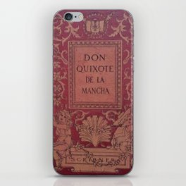 Antique Book Cover * Literacy Art for Book Lovers * Don Quixote * Red * Gold #donquixote iPhone Skin