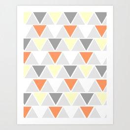 Directions - yellow Art Print